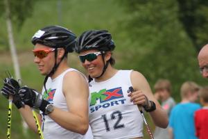 Bilde fra Tour De Trøndelag 2013. Emil sammen med Andreas