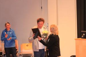 Utdeling av skilaugets stipend for 2014 på 10000,- til Emil Iversen Foto Skigal