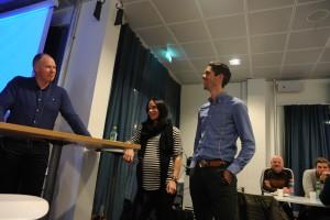 VM ambassadører Marit og  Anders i lystig prat med Ola