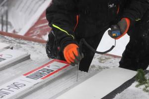 Godt spor er fag. Leverandør av frysespor og også innleid for dagen. Peter Riedel Foto: Skigal