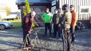 Sykkel gave fra Tore og Hilde. Foto: Hilde Stuberg